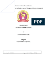 Lab Manual of Web Programming