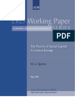 The Puzzle of Social Capital