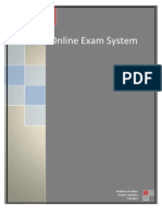 Online Exam System - Project Report