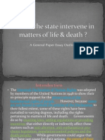 Should the State Intervene in Matters of Life and Death