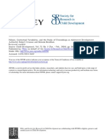 Holism, Contextual Variability, And the Study of Friendships in Adolescent Development