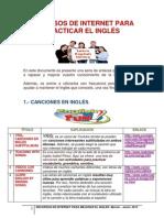 Recursos de Internet Ingles 2014