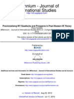 Provincialising IR? Deadlocks and Prospects in Post-Western IR Theory