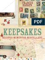Keepsakes Cookbook - Frances Hansen