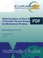 Tech Data-EURAMET-Cg-10-01 Determination of Pitch Diameter