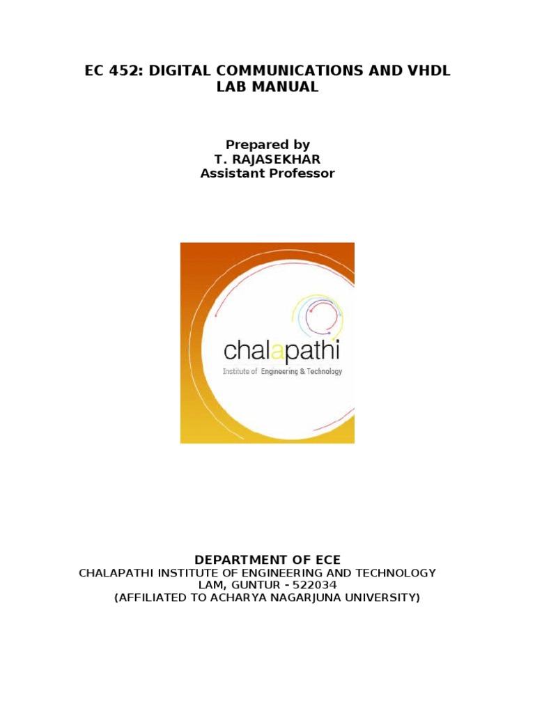 vhdl lab manual daily instruction manual guides u2022 rh testingwordpress co