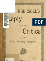 eBook-Col. Ingersoll's Reply to His Critics in the N.Y. Evening Telegram, 1892