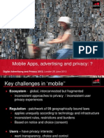 GSMA Mobile Privacy AD London 25 June 20113