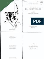 El Conductismo -Watson y McDougall-