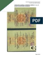 Certificados de Formacion y Experiencia, Frajaro