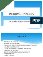 3. REDACCIÓN DEL INFORME FINAL EPS