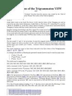 Permutations of the Trigrammaton YHW