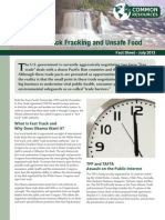 Don't Fast Track Fracking and Unsafe Food