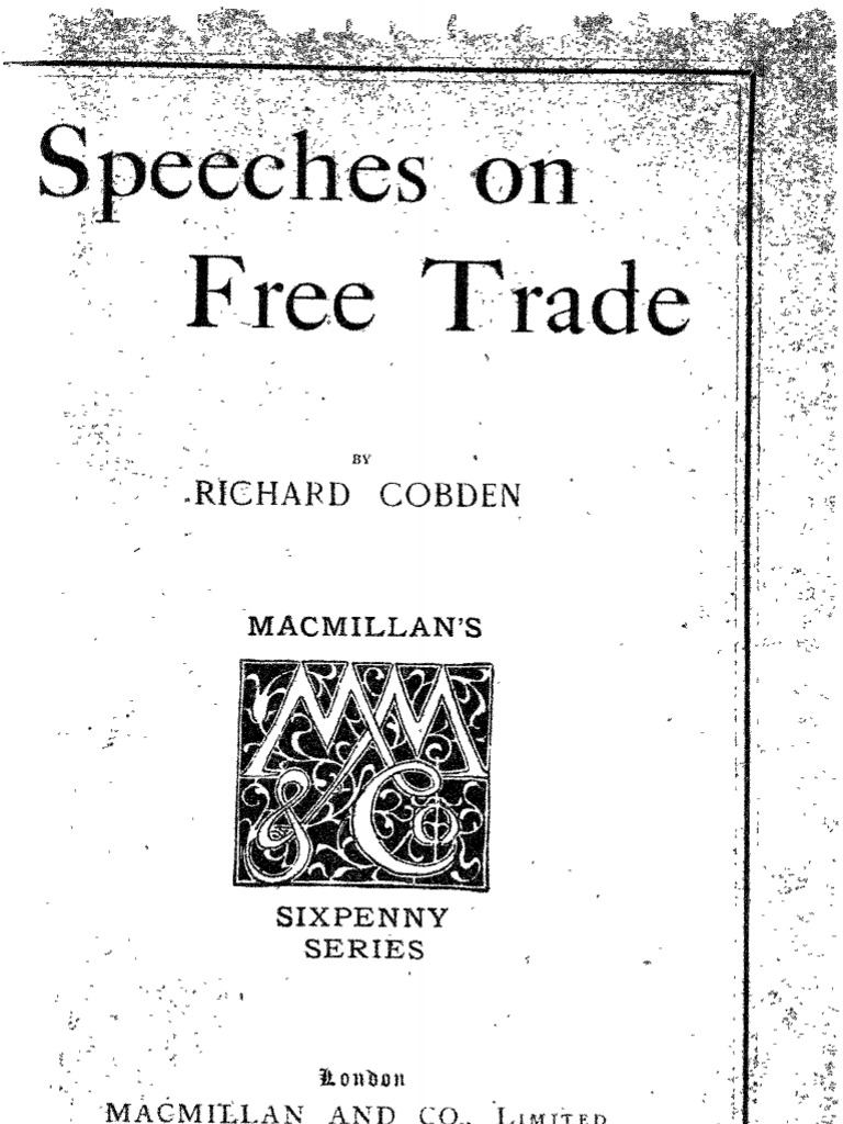 Ingles Cobden Speeches On Free Trade 1903pdf Labour Economics New Rudder Mixer And Speed Controller Driver Revisedand Now Taxes