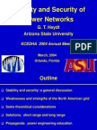 Stability and Secirity of Power Networks