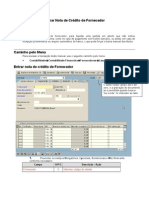 FB65 - Entrar nota de crédito de fornecedor