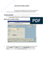 FB75 - Entrar nota de crédito de clientes