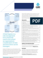 QBE Casualty Risk Management Standards Risk Registers