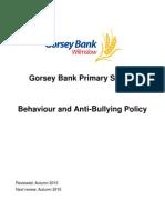 Behaviour & Anti-Bullying Policy 2013