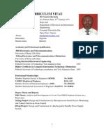 Curricullum Vitae Dr Francis Idachaba