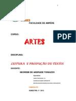 Encarte Artes 2013