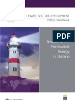Attracting Investment in Renewable Energy in Ukraine