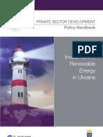 Attracting Investment in Renewable Energy in Ukraine