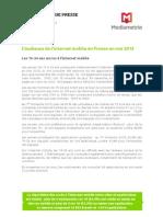 Audience internet mobile Médiamétrie Mai 2013