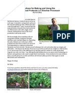 Instructions for Making and Using the Liberty Biofuel Products LLC Biochar Processor