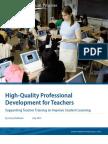 High-Quality Professional Development for Teachers