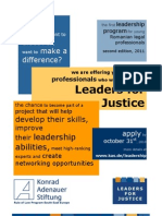 CfA Leaders for Justice 2011