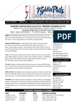 071513 Reading Fightins Game Notes