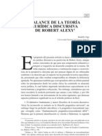 Balance de La Teoria Discursiva en Alexis