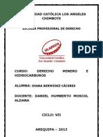 Unidad de Aprendizaje l (Derecho Minero e Hidrocarburos)