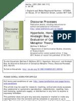 Mcglone - 2011 - Hyperbole , Homunculi , And Hindsight Bias an Alternative Evaluation of Conceptual Metaphor Theory