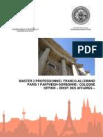 Master 2 Franco-Allemand en Droit Des Affaires