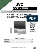 Jvc Sr Chassis Av48p776 Projection Tv Sm
