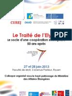 Manifestation franco-allemande, 27 et 28 juin, Faculté de droit de Rouen