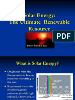 Our Sourses the Solar Energy
