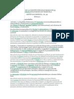 ANÁLISIS DE LA CONSTITUCIÓN BOLIVARIANA DE