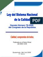 Normas Decreto 78-2005 Ley Del Sistema Nacional de La Calidad