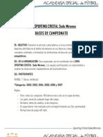 Bases Campeonato Copa Sporting Cristal Sede Mirones
