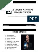 10 Errores a Evitar Al Crear Tu Empresa [Modo de Compatibilidad]