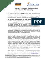 Recomendaciones para la cobertura periodística sobre Adolescentes en conflicto con la ley_