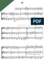 Christmas violin trios
