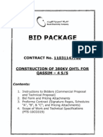(1)Bid Package Contract No. 1103114700-Construction of 380kv Ohtl for Qassim-4 Ss