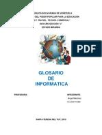 Portada de Glosario Informatica