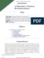Pannekoek_ Teoría Marxista y Táctica Revolucionaria (1912)