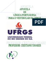 APOSTILA DE LÍNGUA PORTUGUESA PARA O VESTIBULAR DA UFRGS