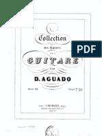 Aguado, Dionisio - Op.12 - Collection Des Oeuvres Pour La Guitare